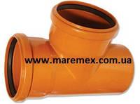 Трійник зовнішній ПВХ для труб 110/110х90 (8) - Мпласт