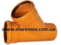 Тройник наружный ПВХ для труб 200/200х45 (10) - Мпласт