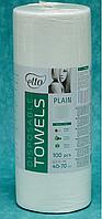 Полотенце одноразовое Etto 40х70, спанлейс (вискоза + полиэфир) пл. 50, гладкий, 100 шт./рул.
