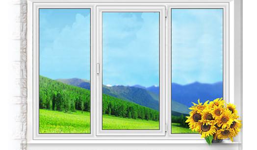 Окно трехстворчатое Олимпия 1700х1300 мм