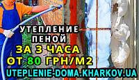 Утепление домов в Харькове. Пена - Теплоизол (пеноизол, экоизол и др.)