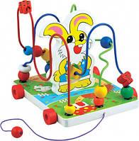 Деревянная игрушка-каталка Лабиринт Зайчик Д255