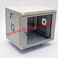 Шкаф 9U, 600х350х477 мм (Ш*Г*В), акриловое стекло, серый (UA-MGSWA935G)