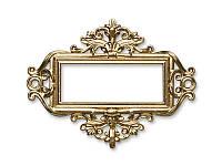 Рамочка металлическая от Арт-студия ПроСвет — Для записей золото, 1 шт