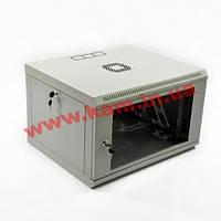 Шкаф 6U, 600x500x343мм (Ш*Г*В), эконом, акриловое стекло, серый (UA-MGSWL65G)