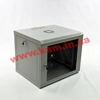 Шкаф 9U, 600x500x477мм (Ш*Г*В), эконом, акриловое стекло, серый (UA-MGSWL95G)