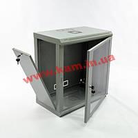 Шкаф 12U, 600x350x610мм (Ш*Г*В), эконом, акриловое стекло, серый (UA-MGSWL1235G)
