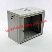 Шкаф 9U, 600x350x477мм (Ш*Г*В), эконом, акриловое стекло, серый (UA-MGSWL935G)