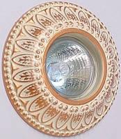 Светильник точечный Ultralight CL 005-WQD бежево-золотой, фото 1
