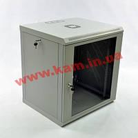 Шкаф 12U, 600x500x610мм (Ш*Г*В), эконом, акриловое стекло, серый (UA-MGSWL125G)