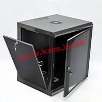 Шафа 12U, 600x600x610мм (Ш*Г*В), економ, акрилове скло, чорна (UA-MGSWL126B)