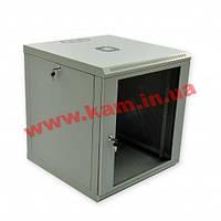 Шкаф 12U, 600x600x610мм (Ш*Г*В), эконом, акриловое стекло, серый (UA-MGSWL126G)
