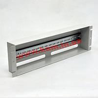 Панель 19'' 3U з DIN-рейкою, для 24-х автоматичних вимикачів, сіра (UA-ASU3UG)