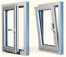 Окна алюминевые ПОВОРОТНО-ОТКИДНЫЕ