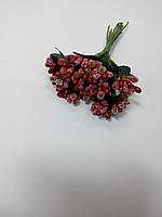 Букет сахарные тычинки с листиками красные