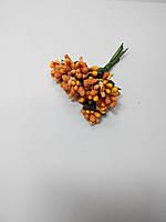 Букет сахарные тычинки с листиками оранжевые