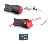 Считывающее устройство USB2.0 A-> CardReader, microSDHC/ TF/ M2 mini stick (62.05.1597-50)