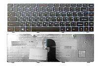 Клавиатура для ноутбука LENOVO (Z450, Z460, Z460A, Z460G) rus, black, gray frame
