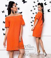 Женское платье для полных в  цветах