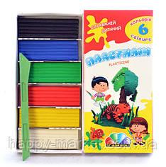 Пластилін 6 кольорів ТМ «Гамма» (Україна) 120 грам 331008