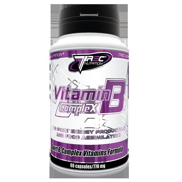 Концентрированный комплекс витаминов группы  В Vitamin B Complex - 60 капсул