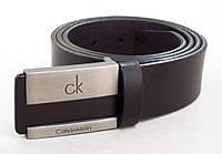 Кожаный ремень Calvin Klein темно-коричневый, фото 1