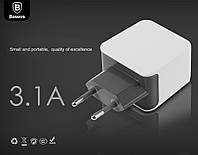 Сетевая зарядка Baseus Fondroid Series Double 3.1A  /gray-white/