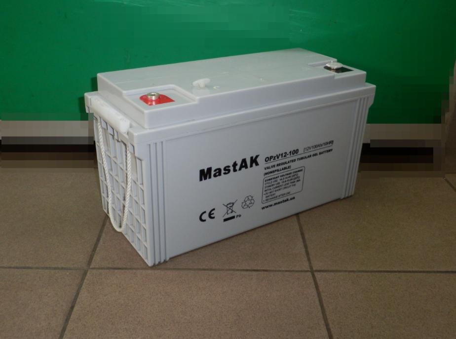 Аккумулятор гелевый MastAK OPzV 12-100 (12v 100Ah)