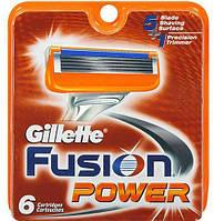 Бритвенные лезвия Gillette Fusion Power. В упаковке 6шт. Оригинал GIL  /45-51