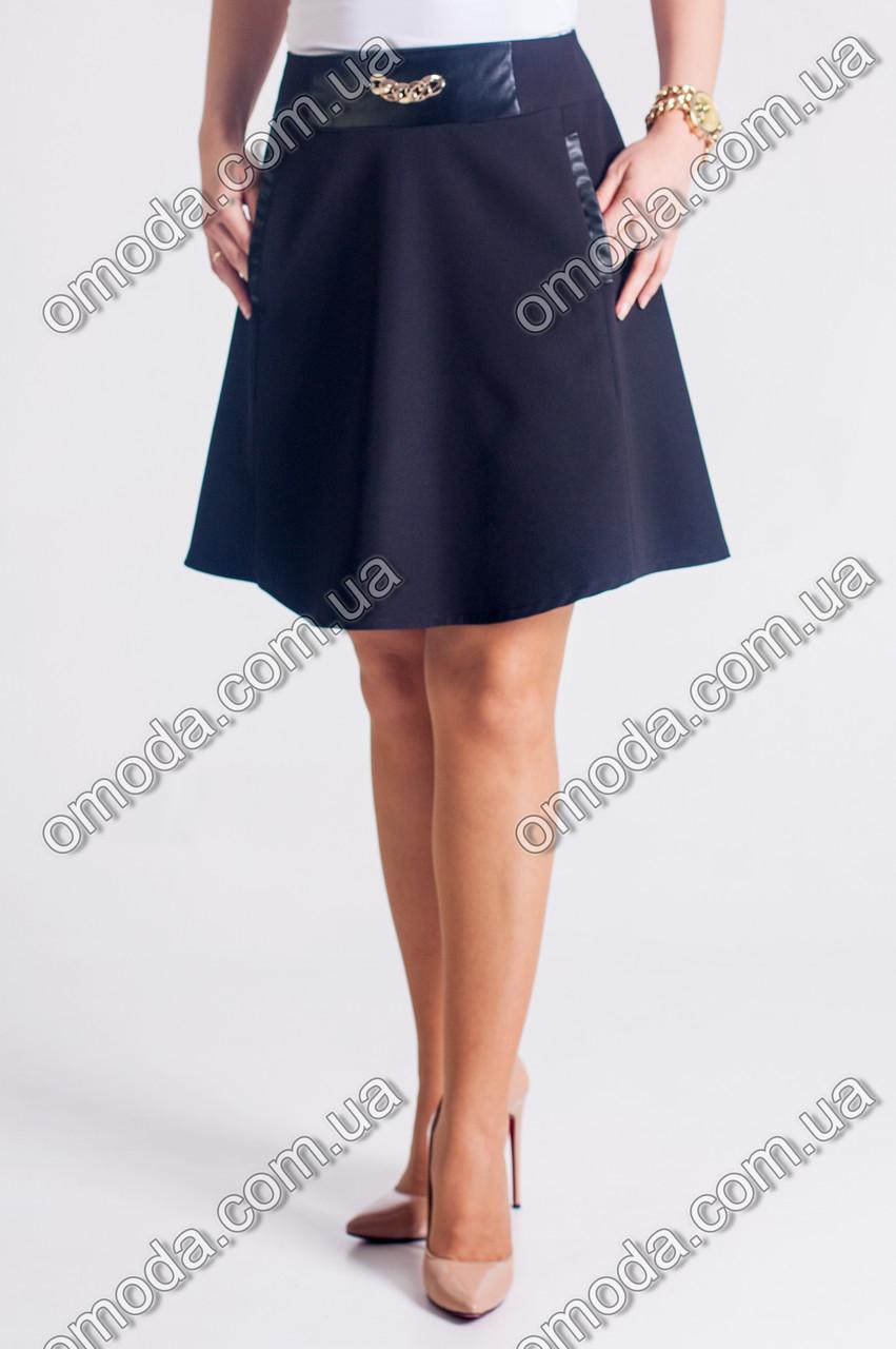 Женская  юбка Ксюша. Юбка молодежная черного цвета
