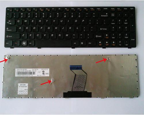 Клавиатура для ноутбука LENOVO (B570, B575, B580, B590, V570, V575, V580, Z570, Z575) rus, black, chocolate fr