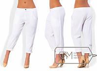 Укороченные брюки лен размеры 42 44 46 48 50 52 54