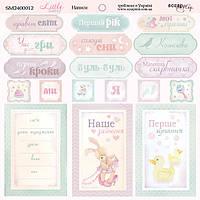 Карточки для декора Little Bunny (укр), 20х20см