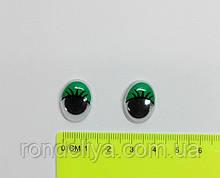 Глазки с подвижным зрачком зеленые 14 х 18 мм