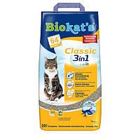 Gimpet Biokat's Classic 3in1 Комкующийся наполнитель для кошачьего туалета