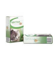 Цестал Кет со вкусом печени 1т/на 4кг, таблетки от глистов для кошек за 1шт.