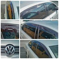 Дефлекторы окон (ветровики) на Фольцваген Поло с 2010> седан (клеющие) ANV air.