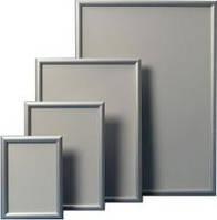 Рамки алюминиевые клик профиль