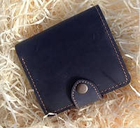 Кожаный кошелек вестерн S, черный.