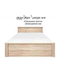 Кровать 160 Нортон