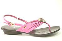 Босоножки женские Basconi розовые из натуральной кожи без каблука, женские босоножки