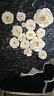 Декор для витрин, залов ресторанов и кафе - Розы из бумаги