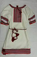 Платье-вышиванка для девочки с красивой вышовкой
