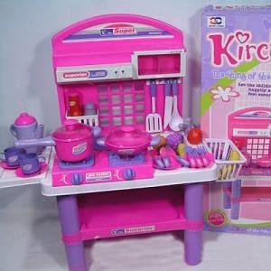 Кухня для девочек BAMBI 61008, детская кухня с аксессуарами