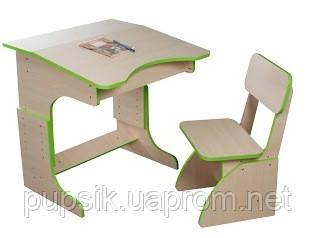 Эко Парта растущая + стульчик (цвет салатовый), Финекс