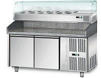 Холодильный стол для пиццы GGM Gastro POS158N#AGS154N