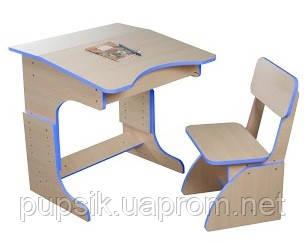 Эко Парта растущая + стульчик (цвет синий), Финекс