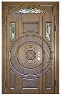 Двери входные полуторные, с фрамугой Модель 19