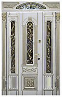 Двери входные полуторные, с фрамугой Модель 20