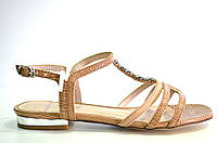 Босоножки женские Vallenssia коричневые без каблука, женские босоножки